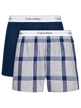 Calvin Klein Underwear Calvin Klein Underwear Komplet 2 par bokserek 000NB1396A Granatowy