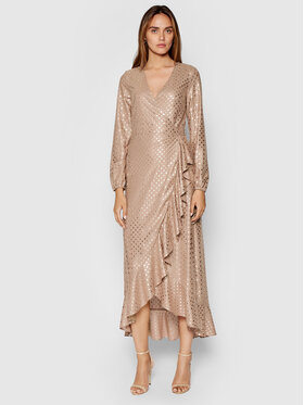 Guess Guess Rochie cocktail New Baja W1YK1A WE140 Bej Regular Fit
