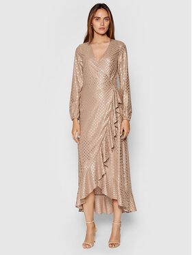 Guess Guess Sukienka koktajlowa New Baja W1YK1A WE140 Beżowy Regular Fit