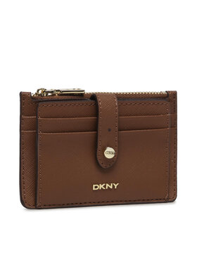 DKNY DKNY Mali ženski novčanik Thomasina Zip Cardho R13Z1P74 Smeđa