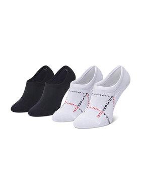Tommy Hilfiger Tommy Hilfiger Súprava 2 párov krátkych pánskych ponožiek 100002663 Biela