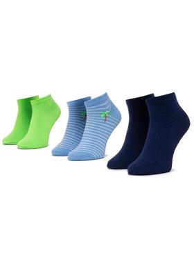 Mayoral Mayoral Sada 3 párů dětských nízkých ponožek 10783 Modrá