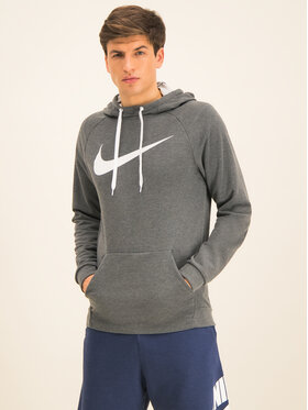 NIKE NIKE Sweatshirt Swoosh 885818 Grau Regular Fit