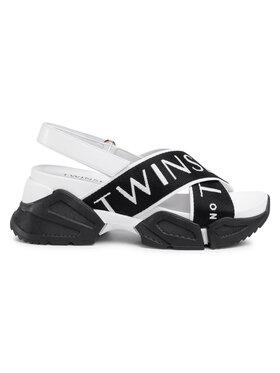 TwinSet Sandále Sandalo 201TCT094 Čierna