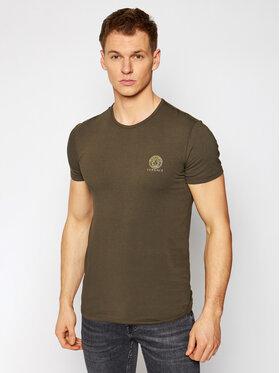 Versace Versace T-Shirt Medusa AUU01005 Grün Regular Fit