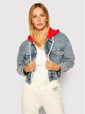 Tommy Jeans Tommy Jeans Veste en jean Hoodie Mmbrg DW0DW08654 Bleu Cropped Fit