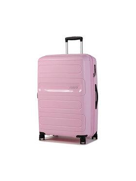 American Tourister American Tourister Duża Twarda Walizka Sunside 107528-8862-1CNU Różowy