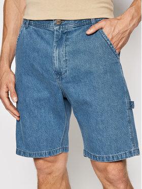 Lee Lee Szorty jeansowe Carpenter L73XMMOJ Granatowy Relaxed Fit