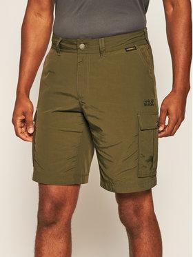 Jack Wolfskin Jack Wolfskin Pantaloni scurți sport Canyon Cargo 1504201 Verde Regular Fit