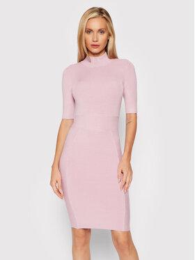 Guess Guess Džemper haljina Allison W1BK53 Z2BF0 Ružičasta Slim Fit