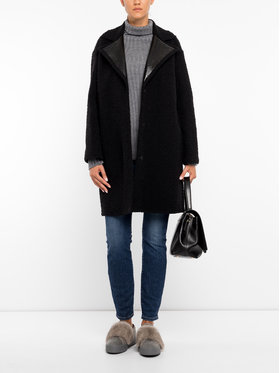 Marella Marella Vlnený kabát 30160998 Čierna Regular Fit