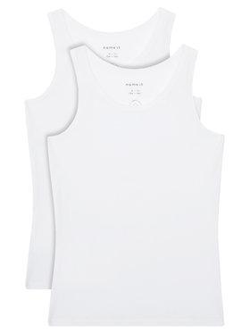 NAME IT NAME IT Комплект 2 блузи без ръкави 13163571 Бял Slim Fit