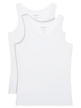 NAME IT NAME IT Σετ 2 τοπ 13163571 Λευκό Slim Fit