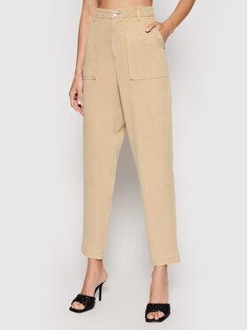 Guess Guess Spodnie materiałowe W1GB71 WDP82 Beżowy Regular Fit
