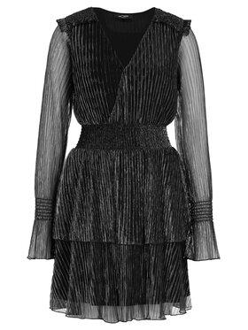 My Twin Koktejlové šaty 192MT2140 Čierna Regular Fit