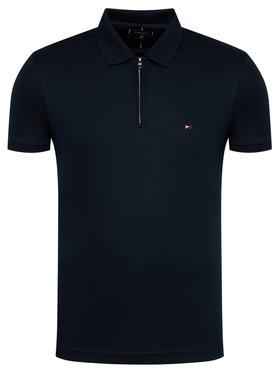 Tommy Hilfiger Tommy Hilfiger Polo marškinėliai Interlock Zip MW0MW18309 Tamsiai mėlyna Slim Fit