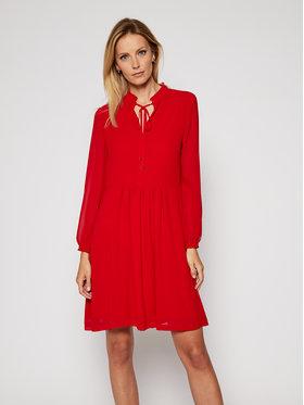 Calvin Klein Calvin Klein Φόρεμα κοκτέιλ Chiffon Ls Tie Skater K20K202291 Κόκκινο Regular Fit