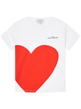 Little Marc Jacobs Little Marc Jacobs T-shirt W15543 M Bianco Regular Fit