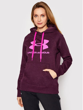Under Armour Under Armour Bluza Rival Fleece Logo 1356318 Fioletowy Loose Fit