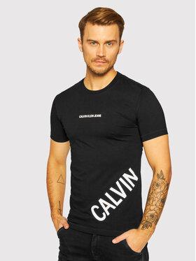 Calvin Klein Jeans Calvin Klein Jeans Marškinėliai J30J316870 Juoda Slim Fit