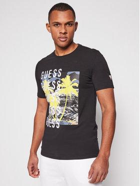 Guess Guess Marškinėliai M1GI58 J1311 Juoda Slim Fit