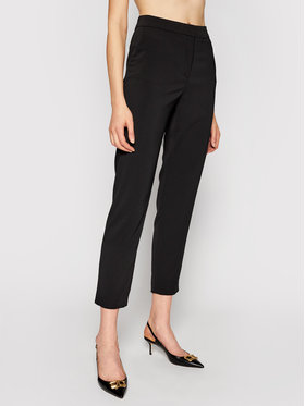Manila Grace Manila Grace Spodnie materiałowe P080PU Czarny Regular Fit