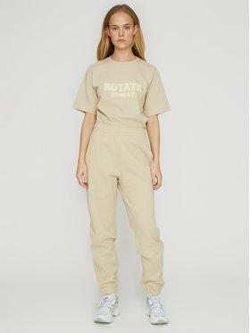 ROTATE ROTATE Teplákové kalhoty Mimi RT470 Béžová Loose Fit
