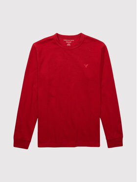 American Eagle American Eagle Тениска с дълъг ръкав 017-2171-1528 Червен Standard Fit