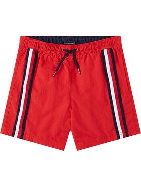 TOMMY HILFIGER TOMMY HILFIGER Szorty kąpielowe Medium Drawstring UB0UB00282 D Czerwony Regular Fit