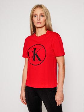 Calvin Klein Jeans Calvin Klein Jeans Tričko J20J215134 Červená Regular Fit