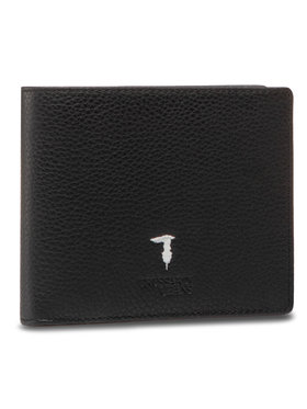 Trussardi Trussardi Veľká pánska peňaženka Trifold Tumbled 71W00006 Čierna