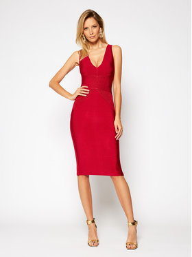 Marciano Guess Marciano Guess Φόρεμα κοκτέιλ Becky 0BG797 5036Z Κόκκινο Slim Fit