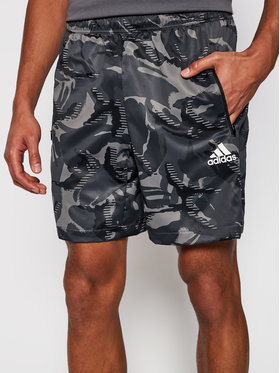 adidas adidas Sportshorts Designed To Move Camouflage GP2660 Grau Regular Fit