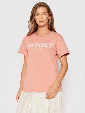 TWINSET TWINSET T-Shirt 212TP2211 Růžová Regular Fit