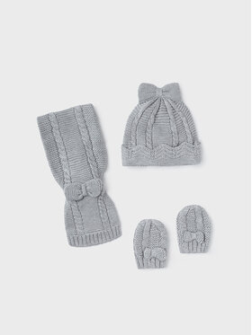 Mayoral Mayoral Комплект шапка, шал и ръкавици 9430 Сив