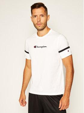 Champion Champion T-Shirt Scripe Detail Script Logo 214267 Bílá Comfort Fit