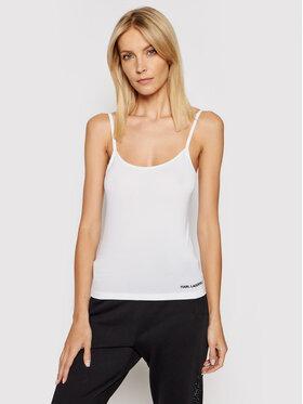 KARL LAGERFELD KARL LAGERFELD Top Logo Singlet 211W2108 Blanc Slim Fit