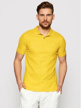 Calvin Klein Calvin Klein Pólóing Refined Pique Logo K10K102758 Sárga Slim Fit