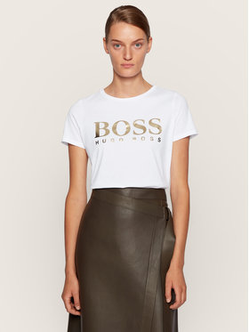 Boss Boss Póló C_Elogo 50436773 Fehér Regular Fit