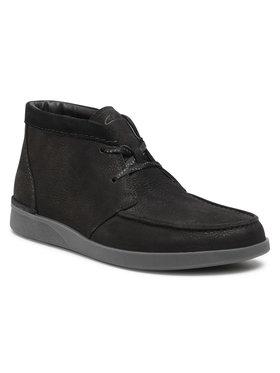 Clarks Clarks Šnurovacia obuv Oakland Top 261524867 Čierna