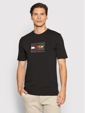 Tommy Hilfiger Tommy Hilfiger T-Shirt ICONS Earth Badge MW0MW19157 Czarny Relaxed Fit
