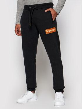 Superdry Superdry Teplákové nohavice Cl Workwear M7010552A Čierna Regular Fit
