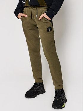 Calvin Klein Jeans Calvin Klein Jeans Teplákové kalhoty Colour Block IB0IB00598 Zelená Regular Fit