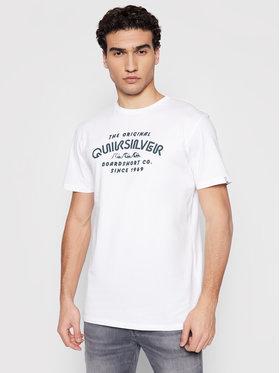 Quiksilver Quiksilver T-Shirt Wilder Mike EQYZT06328 Bílá Regular Fit
