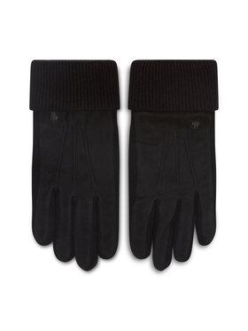 Polo Ralph Lauren Polo Ralph Lauren Pánské rukavice Suede Sandwich Glove 449833580001 Černá
