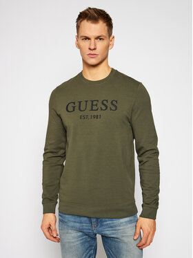 Guess Guess Μπλούζα M1RQ08 K7ON1 Πράσινο Slim Fit