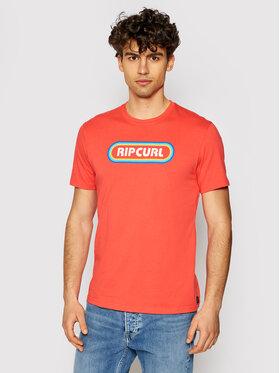 Rip Curl Rip Curl Marškinėliai Surf Revival Hey Muma CTERP9 Raudona Standard Fit