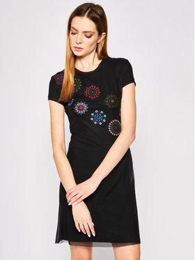 Desigual Desigual Kleid für den Alltag Dammi 20SWVK67 Schwarz Regular Fit
