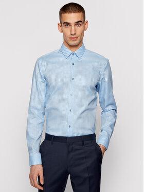 Boss Boss Marškiniai Isko 50449900 Mėlyna Slim Fit