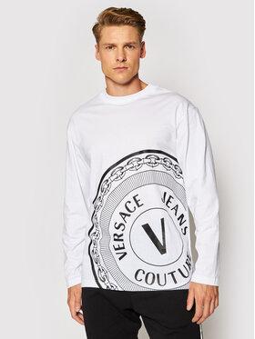 Versace Jeans Couture Versace Jeans Couture Marškinėliai ilgomis rankovėmis 71GAHT20 Balta Regular Fit